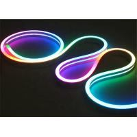 China 12V 24V LED Neon Rope Light Side View 10mm Wide LED Flex Tube Lights CE Certificated on sale