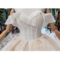 Buy High End Customize Off Shoulder Sequins Bridal Ball Gowns Vintage Luxury Wedding at wholesale prices