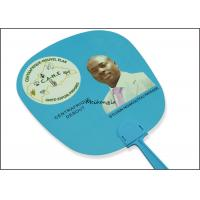 Quality Election Campaign Gifts Plastic Hand Held Fans UV Offset Printing Optional Pantone Color for sale