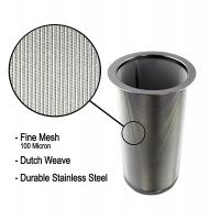 Quality 18/8 Stainless Steel Cold Brew Coffee Maker Filter Cylinder 8.3cm Top Dia for sale