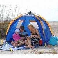 Quality Automatic pole pop up beach tent, OEM and ODM orders are welcome for sale