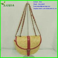 Quality Dyed Wheat Straw Tote Bag for sale