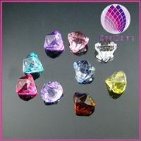 Quality Bead, acrylic, multicolored, 12x12mm top-drilled faceted teardrop . for sale
