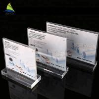 China Commercial Acrylic Sign Display Holder Nameplate Holders Acrylic Sign Board on sale