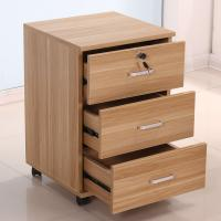 Buy cheap Mobile Office 3 Drawer Wood File Cabinet Furniture With 4 Casters Scratch Proof from Wholesalers