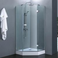 Quality Diamond frameless hinge door shower enclosure/shower cabin with metal fitting for sale