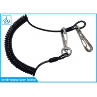 China OEM PU Coated Retractable Tool Lanyard With Carabiner on sale