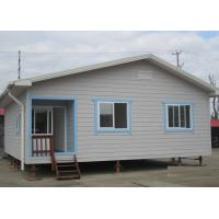 Quality Galvanized Prefab Steel Houses With Fiber Cement Board ISO Approval for sale