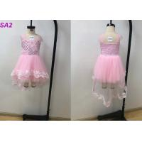 Quality Summer Pink Frock Childrens Flower Girl Dresses For Wedding Party Multi Color Optional for sale