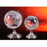 Quality Crystal Home Decorations Crafts K9 Globe Ball With Sand Blasting World Map for sale