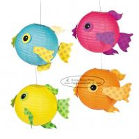 Quality Spotty Fish Lantern For Children Toys Hanging Animal Paper Lantern for sale