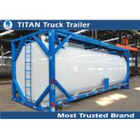 Quality ISO tank container tanker trailer for diesel fuel , petrol , palm oil transportation for sale