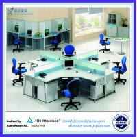 China L Shape Office Partition office Workstation With Steel Leg on sale