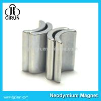 China Arc Shaped Neodymium Iron Boron Magnets For Motor / Wind Generator on sale