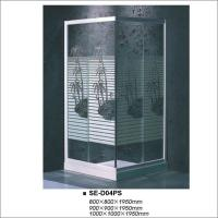 China Sqaure Bathroom Shower Enclosure , Glass Door Shower Stall Coconut Tree Style on sale