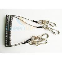 Buy Steel Spring Coil Tool Lanyard With 8 Shape Swivel / Stainless Carabiner at wholesale prices