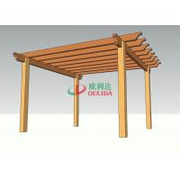 Patio Decor Wood Plastic Composite Pergola 4.7m * 4.3m * 2.5m Environmental Friendly