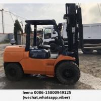 Quality Japan Made Toyota 5ton Used Diesel Forklift Truck 7fd50 With Side Shift for sale