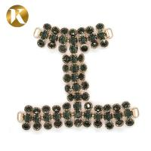 Quality Hanging Plating Women Shoe Tassel Chain Black Diamond Decoration for sale