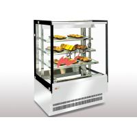 China Dry Heating Food Display Showcase Square T5 Light Glass Food Warmer Display Case on sale
