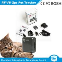 Quality global real time mini keychain gps locator pet gps tracker rf-v8 for sale