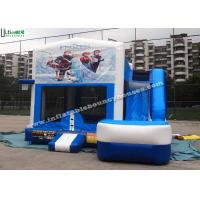 6 in 1 Wet And Dry Slide Inflatable Combo With Theme Panels For Children