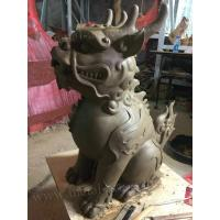 China Mythical Wildlife Fiberglass Animal Sculptures Garden Ornaments Clay Animal Statues on sale