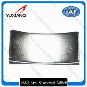 China High Coercive Force Coated Neodymium Magnets N52 35SH 38SH Arc Shaped on sale