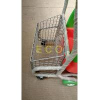 Buy Powder Coating Plastic Basket Cartoon Kids Shopping Carts with PU Wheel at wholesale prices