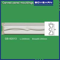 Buy High density polyurethane foam panel mouldings various designs 47mm width color at wholesale prices
