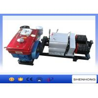 China Diesel Engine Pole Setting Double Capstan Winch 5 Ton 230mm Bottom Diameter on sale
