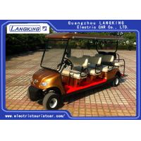 Quality Golden Colour  Electric Golf Carts 8 Seater With Curtis Controller For Hotel Reasort for sale