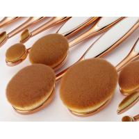 Buy cheap 10 Pcs Tooth Cosmetic Makeup Brushes Professional , Oval Beauty Brush Set from Wholesalers