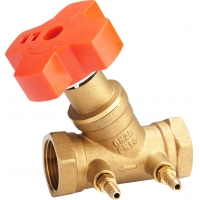 Quality 3201 Adjustable Brass Balance Valve Sizes DN15 DN20 DN25 DN32 DN40 DN50 with Direct Reading Handwheel & Tube Outlets for sale