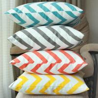 China 100% cotton cushion,geographic vector design cushion,chevron zigzag print cushion on sale