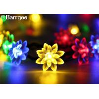 Quality Outdoor Colorful Solar LED Christmas Lights Flower Waterproof String 0.15M Lamp Space for sale