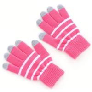 China Fashion stripe magic touch glove five finger operation on sale