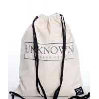 China 100% Cotton Drawstring Bags Reusable Featuring With Zippered Back Pocket on sale