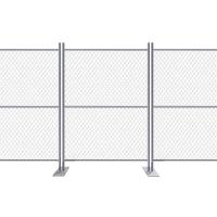 A drawing of crowd control barriers with pedestrian gate.