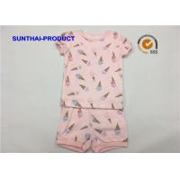 Quality Ice Cream Printed Baby Clothes Sets , Toddler Girl Summer Sets OEM / ODM Available for sale