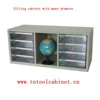 Quality plastic drawer file cabinet with many clear drawers for sale