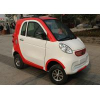 Quality Red White Family Electric City Car , 3 Seats 2200 W Motor Automatic Electric Car for sale