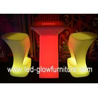 Quality Modern Glowing LED Bar Chair / Stools , Polyethylene plastic illuminated cocktail table for sale