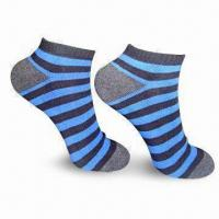 Quality Stripe Terry Sports Ankle Socks for Men, Available in Various Colors for sale