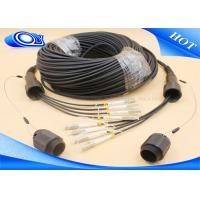 Quality Black Color 4 Core MMF Simplex Tactical Fiber Cable LC / UPC IP67 PDLC Connector for sale