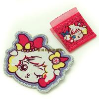Lovely Hot Melt Adhesive Woven Clothing Labels Iron On Backing With Laser Cut
