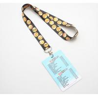 Quality Screen Printing Polyester ID Card Holder Lanyard Vivid 3D Effect Free Samples for sale