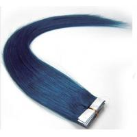 """Quality Fast shipping high quality 100% human  hair  Blue  10"""" to 30""""  Silky Straight Tape  Hair Exentsions for sale"""