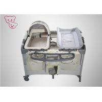 Quality Toy Bag Baby Play Bed , Portable Baby Cot Thickened Alloy Steel Pipe 0 - 6 Years Old for sale