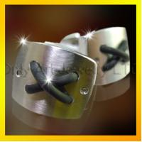 Buy new style silk knot stainless steel cufflinks for men at wholesale prices